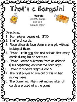 Addition and Subtraction Center Pack