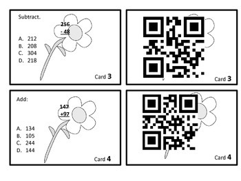 Addition and Subtraction Center with QR Codes