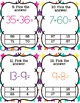 Addition and Subtraction Centers 1st grade