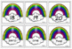 Addition and Subtraction Centers Rainbow Theme