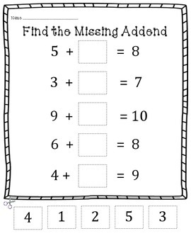 Addition and Subtraction Center Activities