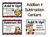 Addition and Subtraction Centers: Building Equations