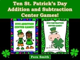St. Patrick's Day Math Center Games  Addition and Subtract