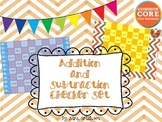 Addition and Subtraction Checker Game Set