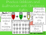 Addition and Subtraction Christmas Lights Math Center