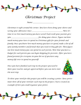 Addition and Subtraction Christmas Math Project