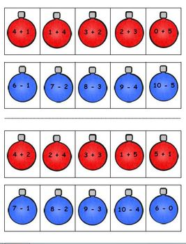 Addition and Subtraction Christmas Trees