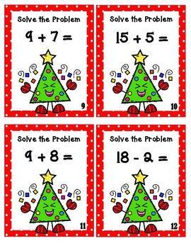 Addition and Subtraction Christmas Trees - Scoot Game
