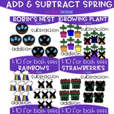 50% OFF Addition and Subtraction Clip Art- Spring Bundle