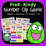 Addition and Subtraction Clip Cards Printable Preschool Activity Teach Numbers