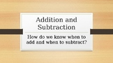 Addition and Subtraction Clue Words Word Problems