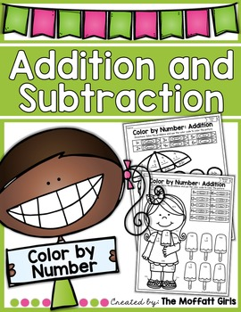 Addition and Subtraction Color by Number!