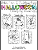 Addition and Subtraction Color by Numbers-Halloween Themed