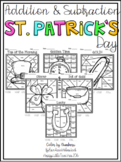 Addition and Subtraction Color by Numbers-St. Patrick's Da