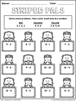 Addition and Subtraction Coloring Sheets Bundle