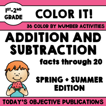 Subtraction Coloring Sheets Teaching Resources | Teachers Pay Teachers