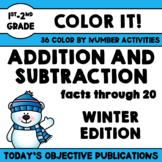 Addition and Subtraction Coloring Sheets (Winter Edition)