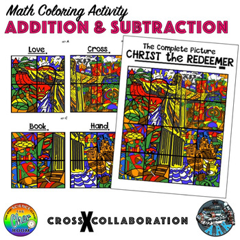 Addition and Subtraction Math Colouring Activity: Set A (Love)