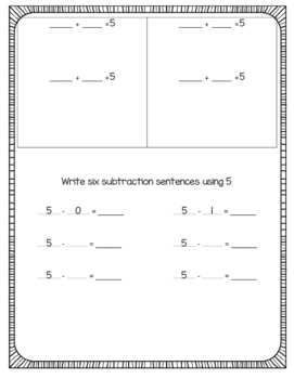 Addition and Subtraction Combinations 5-20