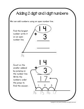 Addition and Subtraction Common Core style - 1st Grade (1NBT4; 1NBT5; 1NBT6)