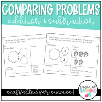 Addition and Subtraction Comparing Story Problems