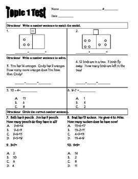 Envision Topic 1- Addition and Subtraction Concepts Test