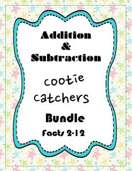 Addition and Subtraction Cootie Catcher Bundle