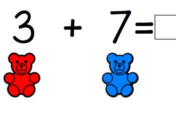 Addition and Subtraction Counting Bear Task Cards
