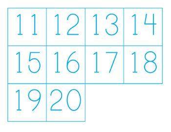 Addition and Subtraction Counting Mats (0-20)