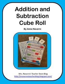 Addition and Subtraction Cube Roll