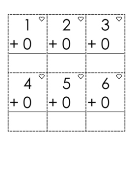 Addition and Subtraction Cut-Out Strategy Flashcards