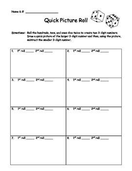 Addition and Subtraction Dice Games