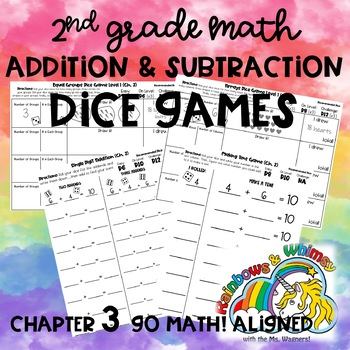 Addition and Subtraction Dice Games - 2nd Grade Ch. 3 Go Math! Aligned