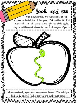 Addition and Subtraction Differentiated Activity