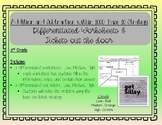 Addition and Subtraction Base 10- Differentiated Worksheets and Exit Tickets