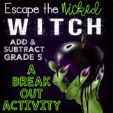 Addition and Subtraction Digital Escape Room Grade 5 -- Di