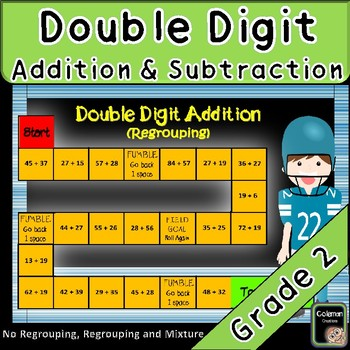 Double Digit Addition and Subtraction Game