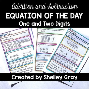 Addition and Subtraction EQUATION OF THE DAY: Addition/Subtraction Fact Booklet