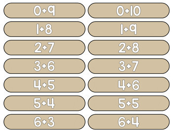 Addition and Subtraction Game - Popsicle Stick Math