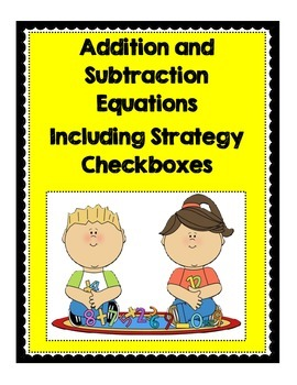 Math Drills Including Mental Math Strategy Checkboxes (+/-)