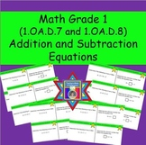 Addition and Subtraction Equations Task Cards (CCSS.1.OA.D