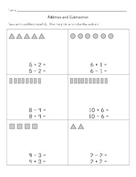 Math Worksheets: Addition and Subtraction Equations Using the Same Numbers