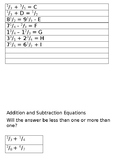 Addition and Subtraction Equations for Interactive Journals