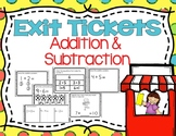 Kindergarten Addition and Subtraction Exit Tickets (OA Exit Tickets)