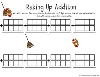 Addition and Subtraction FALL Freebie