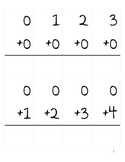 Addition and Subtraction Fact Cards to 10 (w/o answers)