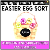 Easter Math Game - Addition and Subtraction Fact Families