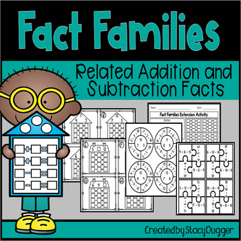 Addition and Subtraction Fact Families Activities
