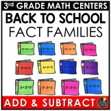 Addition and Subtraction Fact Families Back to School Game