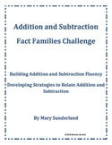 Addition and Subtraction Fact Families Challenge